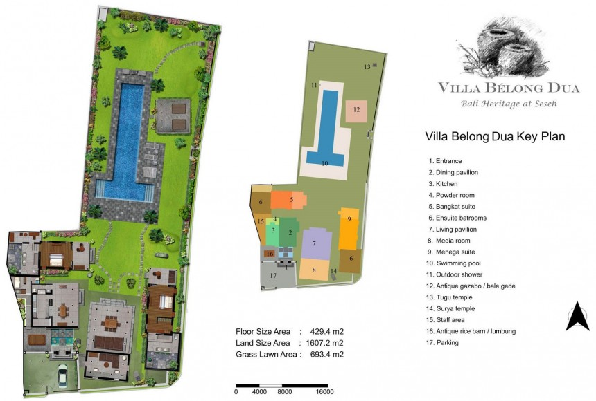 Villa Belong Dua Floor Plan