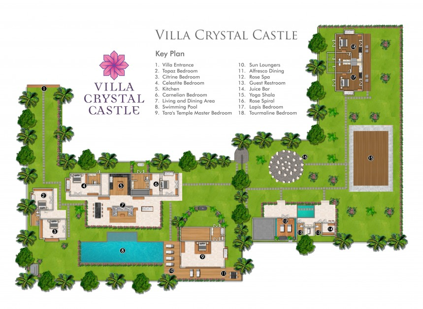 Villa Crystal Castle Floor Plan