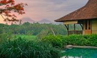 View on Volcanos From Ubud Villa Kirana